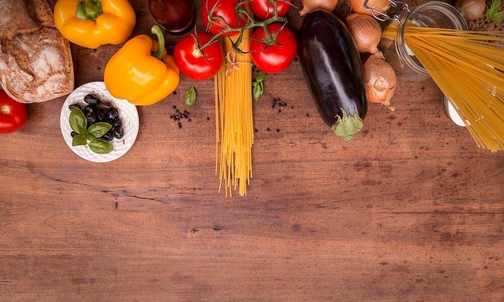 Gesunde Ernährung mit viel Gemüse