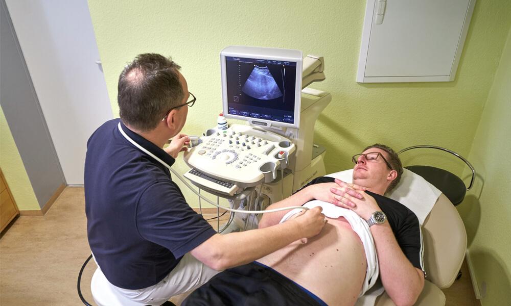 Ultraschalluntersuchung des Bauchs